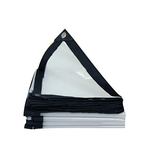 XRFHZT Transparente wasserdichte Planenfenster-Regenabdeckung im Freienbalkon-Regenplane,3mx10m