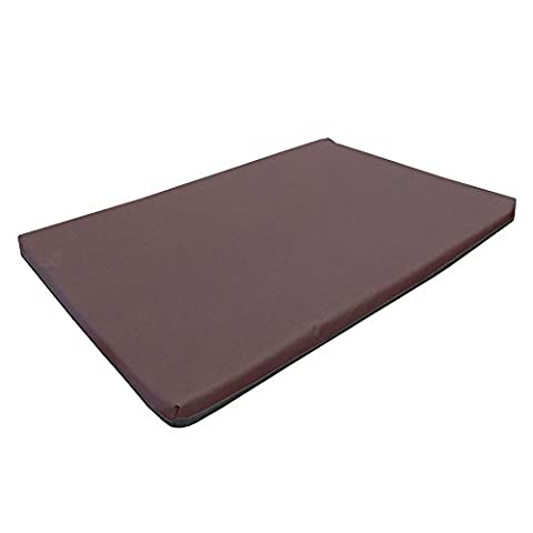 Large Waterproof Orthopaedic Rectangle Memory Foam Dog Bed / Travel Mat | Brown | 100cm x 65cm x 5cm