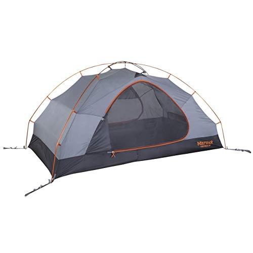 Marmot Fortress 2P, Ultraleggera per 2 Persone, Trekking per 2 posti, Tenda da Campeggio, Assolutamente Impermeabile Unisex Adulto, Tangelo/Grey Storm