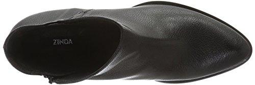 Zinda 2440, Bottes courtes avec doublure chaude femme Noir - Noir