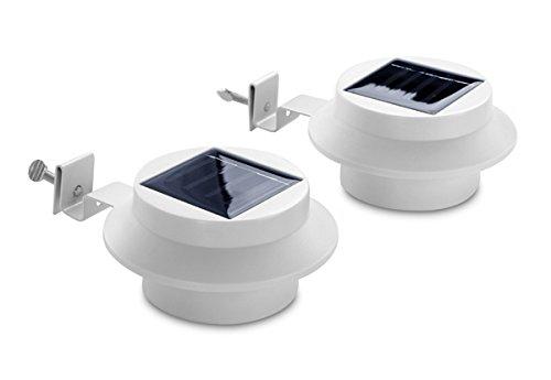 Solaray Solarbetriebene Dachrinnen-Leuchten, Zweierpack
