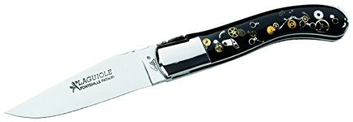 Couteau pliant Laguiole, couteau couteau de poche Sandvik 12 C27 Étui en cuir Fontenille
