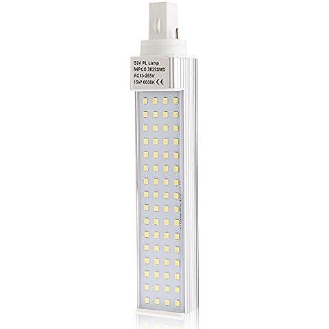 15W G24 Lampada in Alluminio 64 LED