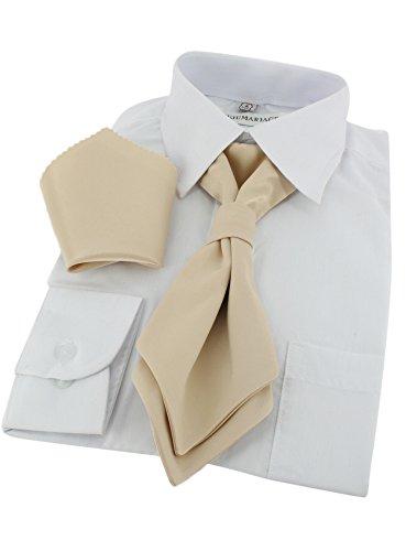 Cravate lavallière enfant + pochette Beige