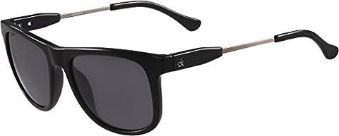 Calvin Klein Platinum - CK3186S, Géométriques, acétate, homme, BLACK/DARK GREY(001),