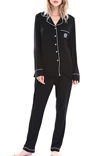 NORA TWIPS Women's Sleepwear Long Sleeves Pajama Set With Pants by (XS-XL)