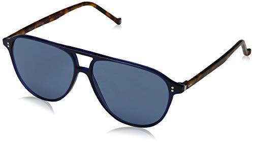Hackett London Herren Bespoke Sonnenbrille, Blau (Navy/Blue), 56.0