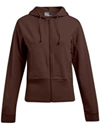 Fashionable sweat à capuche zippé à capuche pour femme avec élasthanne