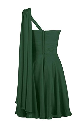 Sunvary Pantaloncini spalle inserti Homecoming A-line da Cocktail Party Gowns Dark Green
