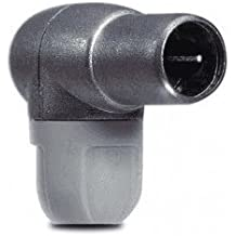 Cablepelado - Conector F rapido blindado acodado PROEasyF Gris