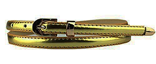 Faux Leder Schnalle (Sucre Belts Damen Gürtel mit Schnalle Gürtel Gold gold)