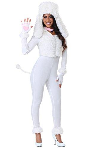 Kostüm Pudel Adult - Fun Costumes Weißes Pudel-Kostüm der Frauen - L