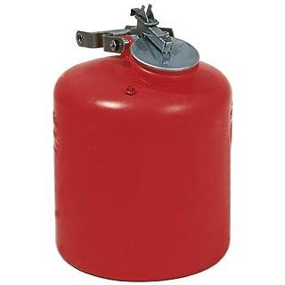 asecos Sammelkannen, Sicherheitsbehälter, Polyethylen, Selbstschl.Deckel, Edelstahl,Inh. 19 Liter