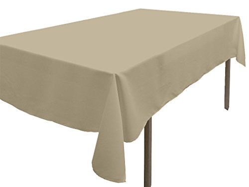 Soleil d'Ocre 818232 Alix Nappe Antitaches Rectangle Polyester Taupe/Ecru 140 x 300 cm