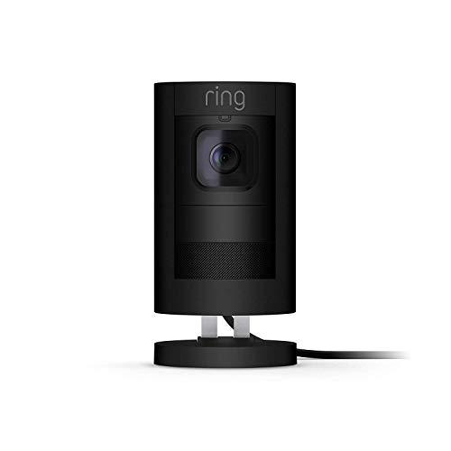 Die neue Ring Stick Up Cam Wired HD-Sicherheitskamera mit Gegensprechfunktion und Alarm, Schwarz, funktioniert mit Alexa