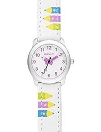 Kipling – Reloj, correa de piel color blanco con rosa lápiz k9400605