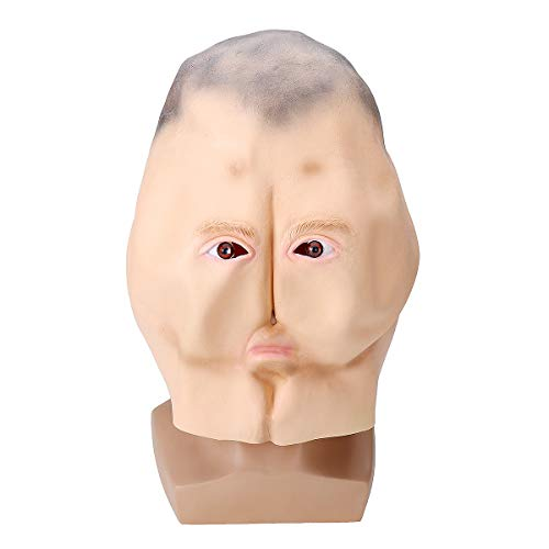 Bluelover Latex Butt Head Mask Erwachsener Esel Halloween Party Kostüm Zubehör Prop Cosplay