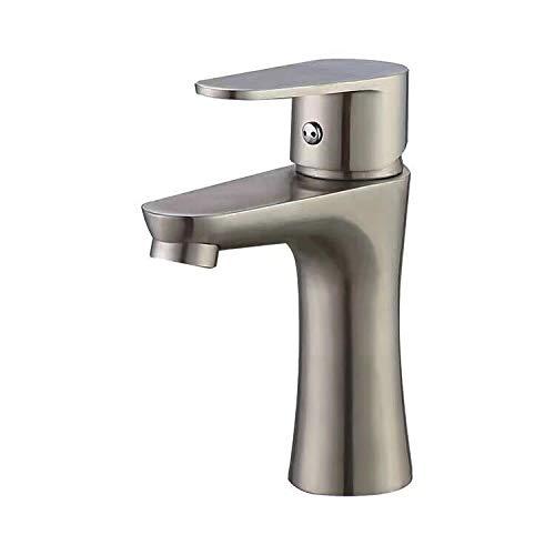Haushaltsstandard Badezimmer Einhand-Verchromtes Becken Einkanal-Spültischbatterie Mit Schlitzschlitz (Silber)