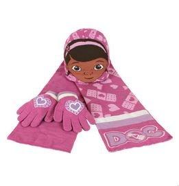 Set invernale 3 pz cappellino, guantini e sciarpa dottoressa peluche disney