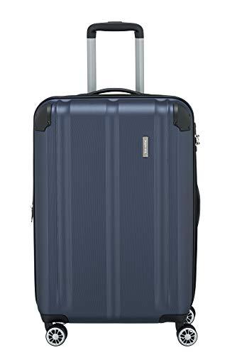 """Travelite Leicht, flexibel, sicher: \""""City\""""-Hartschalenkoffer für Urlaub und Business (auch mit Vortasche) Koffer, 68 cm, 78 Liter, Marine"""