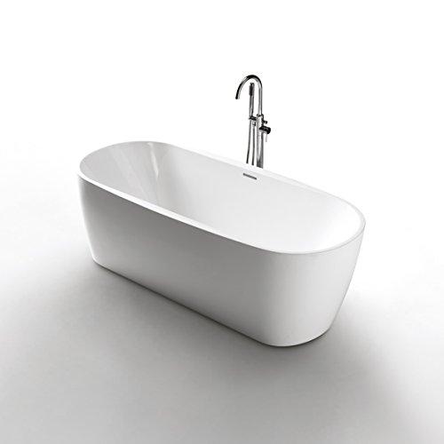 Freistehende Acrylwanne D-8022-170 weiß