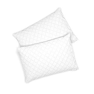 VitaliSpa 2er Set Microfaser Kopfkissen Allergiker geeignet Kissen weiß 3 Größen (50 x 75 cm)