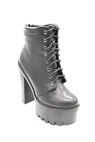 Black Harmony Martina Gabriele Shoes - Tronchetto in Eco Pelle con tacco alto (36)