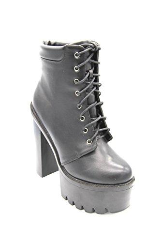 Black Harmony Martina Gabriele Shoes - Tronchetto in Eco Pelle con tacco alto (39)