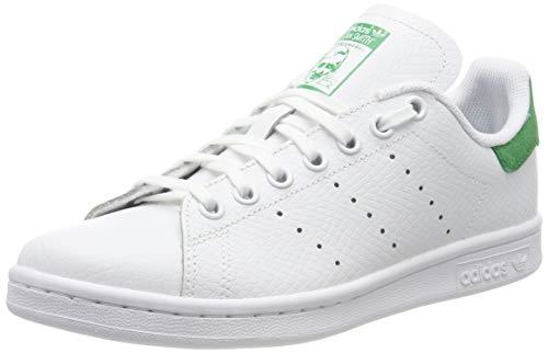adidas Stan Smith J, Chaussures de Gymnastique Mixte Enfant, Blanc FTWR White/Green, 38 EU