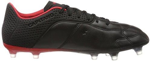 Puma Herren Capitano FG Fußballschuhe Schwarz (Puma Black White Red)