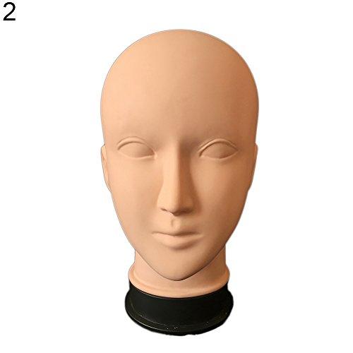 TankMR Schaum Haar Kopf Schimmel, Weibliches Modell, Dummy-Modell, Schaufensterpuppe Training, Haarverlängerungen, Hut Perücke Schmuck Halter 2#