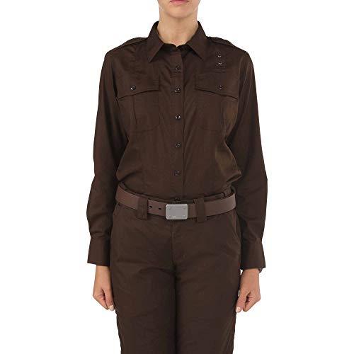 5.11Damen Taclite PDU Class-a Long Sleeve Shirt, Damen, braun, Small-Regular - Militärische Bdu Shirt