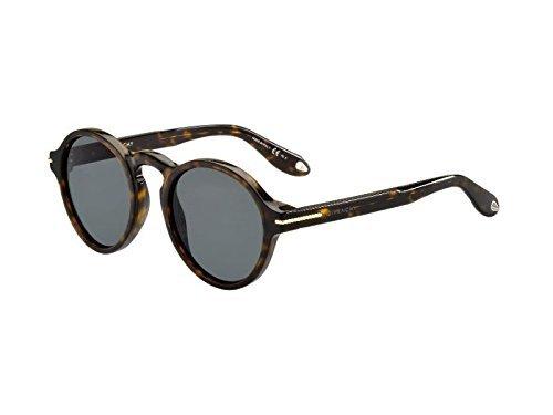 Givenchy gv 7001/s e5 086, occhiali da sole unisex-adulto, marrone (dark havana/grey), 51