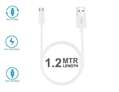 Intex Cloud Z6 Supported Sync and Charging Data Cable,Super High Speed USB Cable,Data Transfer Cable With 1m Long White-Black,USB TO MICRO USB CABLE DATA CABLE FOR MOBILES By printsquad  available at amazon for Rs.139
