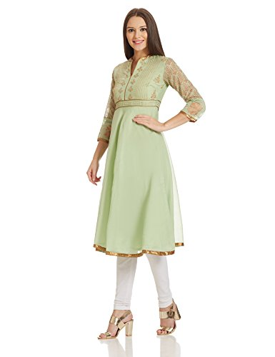 BIBA Women's Anarkali Kurta (TREE OF 12315_Green_36)
