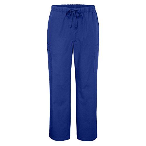Adar Universal Herren 6-pocket Komfort konisch Bein Scrub Pants Gr. Small, königsblau (Uniform Elastische Taille Kordelzug)