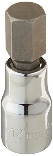SK Hand Tool 41411 3/8-Inch Drive Hex Bit Socket, 12mm, Chrome by SK Hand Tool -