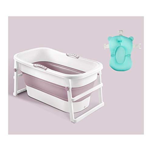 Plegable grande de baño de hidromasaje, antideslizante portátil Ducha de bebé plegable de la tina...