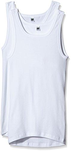 Trigema Herren Unterhemd 6864002, 2er Pack, Gr. Large (Herstellergröße: 7), Weiß (weiss 001)