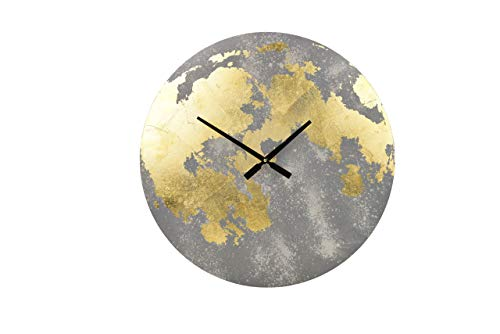 Gallery Solutions Horloge Murale Gris/Or Rond Format Extérieur: Ø 61 cm