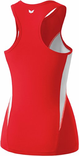 erima Damen Tank Top Singlet Rot/Weiß