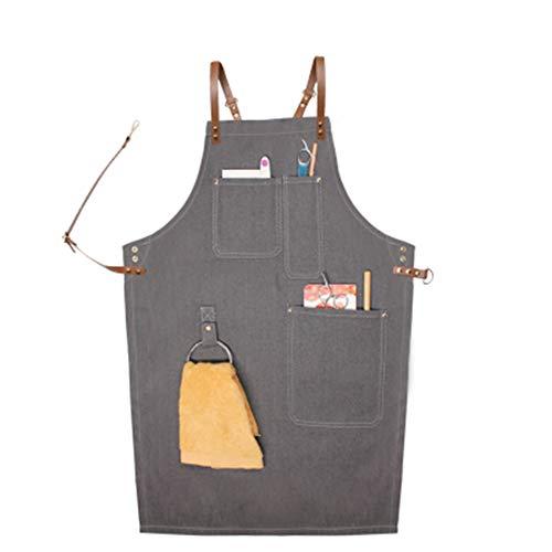 eißer Schürze für Küche Garten Keramik Handwerk Werkstatt Garage Canvas Stoff,K ()