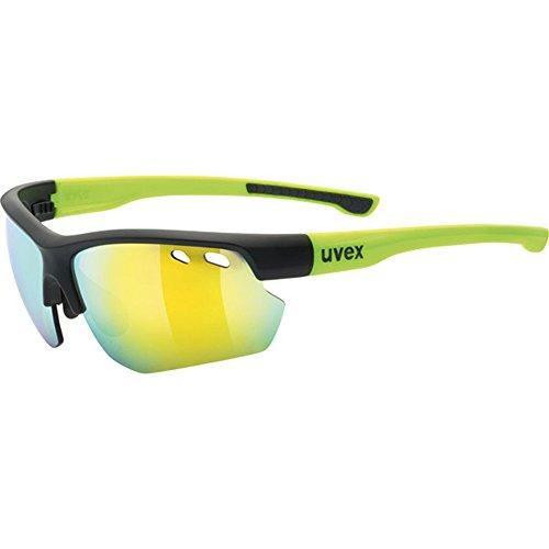 Uvex Erwachsene Sportstyle 115 Sportbrille, black mat yellow, One Size