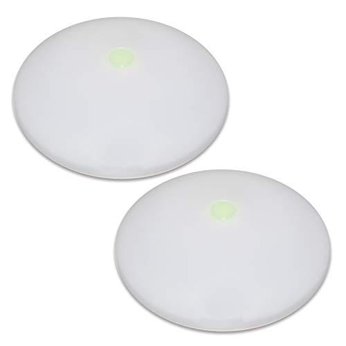 Preisvergleich Produktbild Dream Lighting 12V LED Deckenlampe Schrankbeleuchtung für Wohnwagen Reisemobile Boot Innenlampe 380Lumens,  Warmweiß Feuerbeständige,  mit nachtsichtbarem Schalter,  Paar
