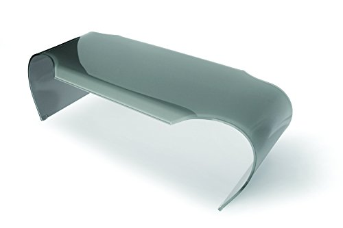 designement Tulle Table Basse Verre Gris 149,5 x 67 x 45 cm