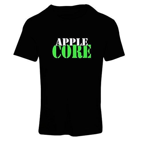 N4248F Frauen T-Shirt Apple Core (Medium Black Green) Fun Factory Green Apple