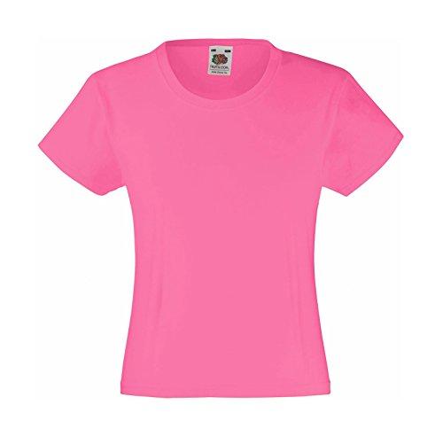 T-Shirt 'Girls Value Weight T', Farbe:Fuchsia;Größe:128 cm 128cm,Rosa