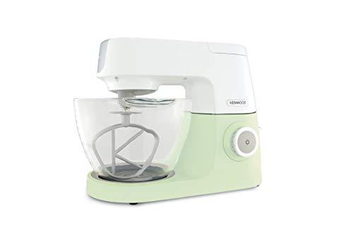 Kenwood Chef Sense KVC5100G Küchenmaschine   Bekannt aus Das große Backen   1.200Watt   4,6 l Füllmenge   Durchsichtige Glas-Rührschüssel   Inkl. 3-teiliges Patisserie-Set   Grün