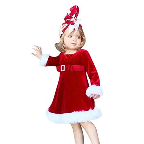VICGREY  Christmas Vestiti del Costume, Bambini Natale Principessa Vestito Birichino Abiti Vestito Cosplay per Ragazze Abito di Natale Bambina Cappotto Bambina Invernale