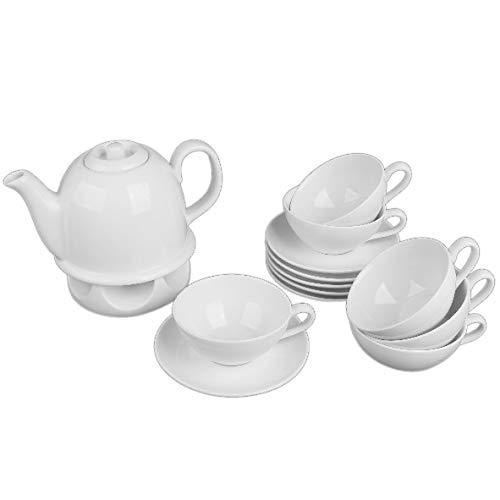 "Holst Porzellan PA 149 FA1 Teeservice\""Tea Time\"" 14-tlg, Porzellan, weiß"